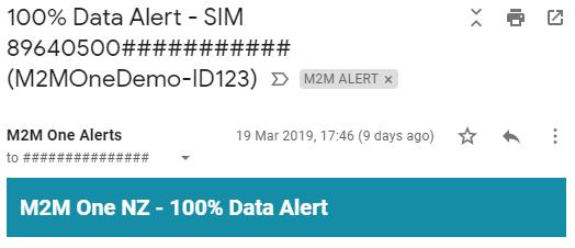Data Usage Alert Email